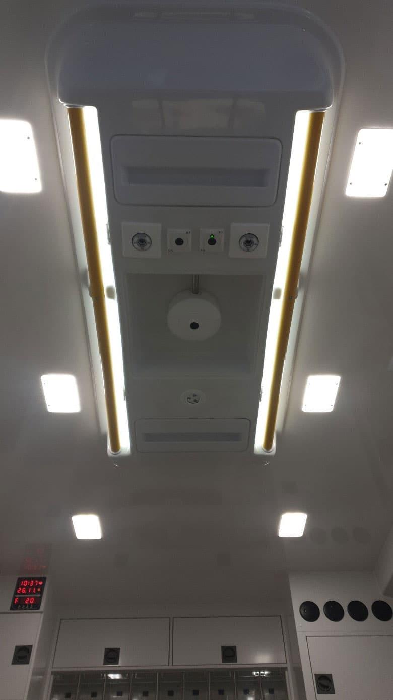 Kamera im Decken-Center des Patienten Raumes